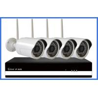 China CMOS 20M IR 720P 4 Channel Wireless cctv camera kits systems for bank on sale