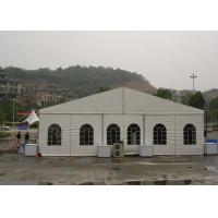 5m Bay Distance White Fabric Marquee Tent , UV Resistant Outdoor Storage Tent Manufactures