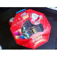 Octangle Packaging Metal Tin Box Ferrero Kinder Joy Toy With Divder Inside And Pvc Window Manufactures
