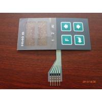 Custom Metal Dome PCB Membrane Switch Panel , with black overlay Manufactures