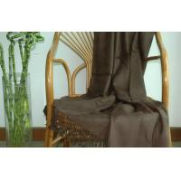 Yarn Dyed Brushed Bamboo Throw Blanket For Bed Sofa , Anti - Bacterial Manufactures