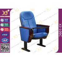 Buy cheap Big Conference Hall Auditorium Chairs With ABS Tablet Foldable / Audio System from wholesalers