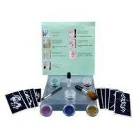 China 6 Colors Temporary Body Glitter Tattoo Kit with Brushes, Glue, Stencil on sale