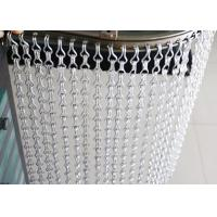 Silver Fly Screen Chain Curtain Aluminum Alloy Material For Prevent Bug Manufactures