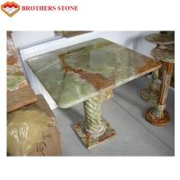 Natural Stone Marble Polished green Onyx Marble Table Manufactures