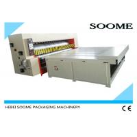 Economical Type Corrugated Packaging Machinery , Semi Auto Die Cutting Machine Chain Rotary Roller Manufactures