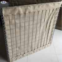 Welded Wire Mesh Sand Filled Barriers / Military Sand Gabion Box Wall