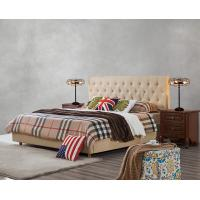 Upholstered Headboard Bed by Modern design Fabric with Contemporary Furniture Apartment Bedroom used Manufactures