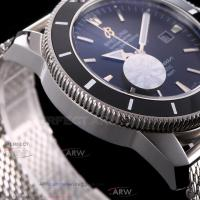 Quality Perfect Replica Breitling Superocean Black Dial Black Ceramic Bezel Stainless for sale