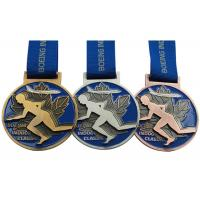 Round Copper Metal Award Medals Original Material Color Die Casting Process Manufactures