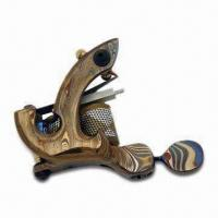 0.50/0.50mm Tattoo Machine with Front Binder, Red Copper/Solid Brass and Damascus Steel Manufactures