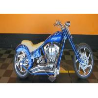 Bright Blue 110cc Pocket Bike Harley Mini Chopper Fast Speed With Real Leather Manufactures