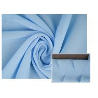 100% Polyester Soft Light Blue Chiffon Fabric Breathable For Summer Dress / Pants Manufactures
