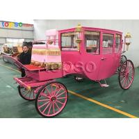 Pink Fairytale Vintage Cinderella Carriage For Movies Props CE Approved Manufactures