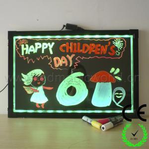 China New Bright Aluminium alloy acrylic led writing board on sale