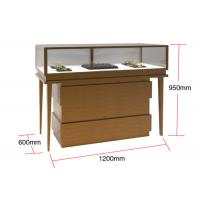 Veneer MDF Glass Display Cabinets , Jewelry Watches Retail Shop Display Manufactures
