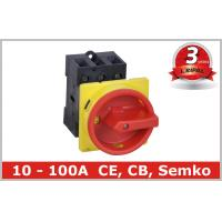 10A 16A 20A 25A 32A 40A 50A 63A 80A 100A Rotary Isolating Switch Rear mounted Manufactures