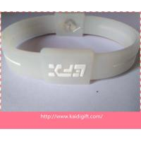 white color promotional power silicone wristband Manufactures
