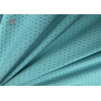 Grean Colour Sports Mesh Fabric , Polyester Spandex Blend Fabric For Garment Sports Manufactures