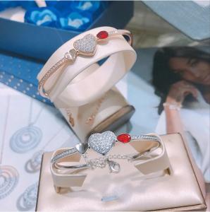 Crystal Stone Designer Jewellery Collection 925 Sterling Silver Swaroski Heart Bracelet Bangle Manufactures