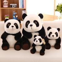Stuffed Animal Kids Plush Toys Genuine Plush Black Panda Shaped , 20cm / 30cm / 45cm Manufactures