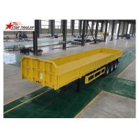 3/4 Axles Drop Deck Semi Trailer , Heavy Duty Semi Trailers For Truck Manufactures