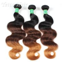 3 Tone Color Real Hair Ombre Extensions With No tangle No Shedding Manufactures