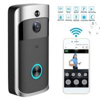 China HD Wifi Enabled Wireless Doorbell Camera , Battery Operated Smart Camera Security on sale