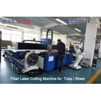 380V / 50Hz / 60Hz CNC Fiber Laser Cutting Machine For Tube / Sheet Cutting Manufactures