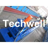 Rolling Shutter Door Track Roll Forming Machine With 16 Forming Station TW-DTM45 Manufactures