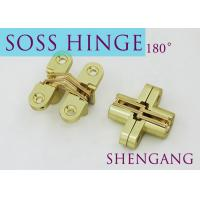 "Quality Satin Brass Soss Stainless Steel Concealed Hinges , Wings measure 3/8"" Wide x 1 for sale"