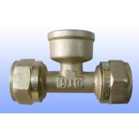 China compression brass fitting female tee for PEX-AL-PEX on sale