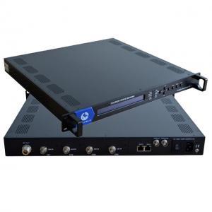 China 4 Channel Digital Modulator QPSK Modulator Biss Decryption Satellite TV DVB-S2 Modulator on sale
