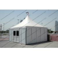 Temporary High Peak Tents Glass Door , Outdoor Hajj Tents As Catering / Stay Place Manufactures