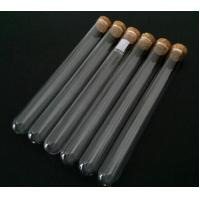 China Clear test tube with cork top on sale