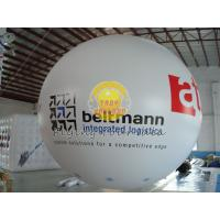 White Dia 4m inflatable advertising helium balloons with 0.20mm PVC Material for Promotion Manufactures