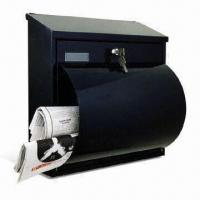 China Powder-coated Mailbox, Made of Steel Plate, Suitable for Wall Mounting, Measures 360 x 370 x 105mm on sale