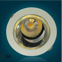 30W COB Embedded Led Recessed Ceiling Downlights Rotatable for showroom Manufactures