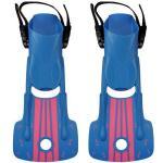 Kids Scuba Diving Fins Short Adjustable With Snorkeling Open Heel Manufactures