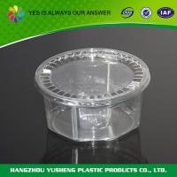Round disposable clear plastic storage container for different foods Manufactures