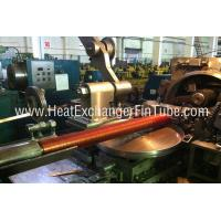 Helicoidal Groove Cooling Embedded Fin Tube Machine , G Type Alu & Copper