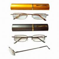 Metal Frame Reading Glasses with Aluminum Case Manufactures