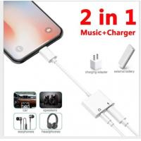 2 In 1 Apple Lightning Headphone Adapter Customized Logo Long Life Span Manufactures