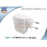 White Universal Travel Power Adapter 5V 1A With ROHS GS Certificated Manufactures