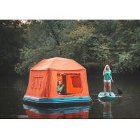China Orange/Blue Inflatable Shoal Floating Tent Inflatable Water Pool portable beach pop up tent on sale