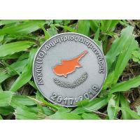 Quality Customized Zinc Alloy Personalized Coins For Collectible Antique Silver Plating for sale