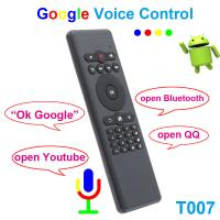 China 2.4Ghz Air Mouse Wireless Keyboard , Fly Mouse Remote Google Assistant Voice Control on sale