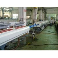 Plastic pvc Pipe Extrusion Line , Double Screw Twin Pipe Extrusion Line Manufactures