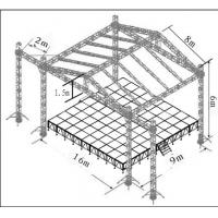 Silver Aluminum Stage Truss Outdoor Performance Equipment TUV Manufactures
