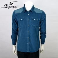 Corduroy Flannel Casual Outdoor Clothing Male Adults Age Group Woven Shirts Manufactures